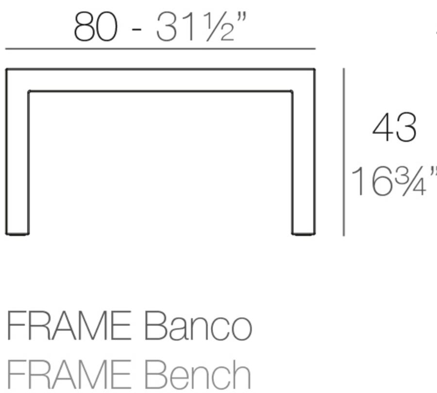 Medidas Banco Frame
