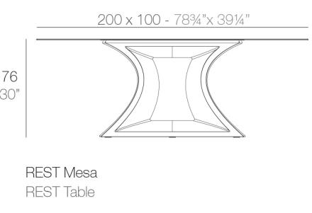medidas mesa rest
