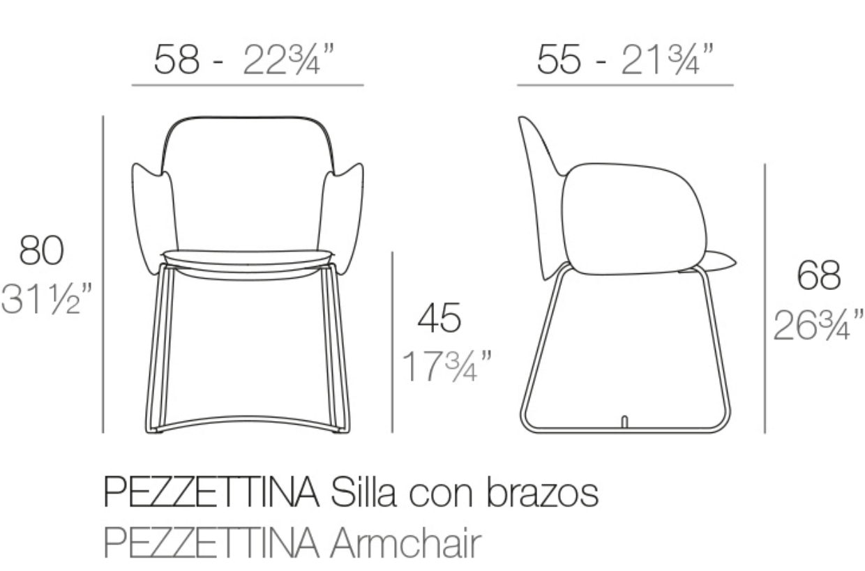 Medidas sillón Pezzettina