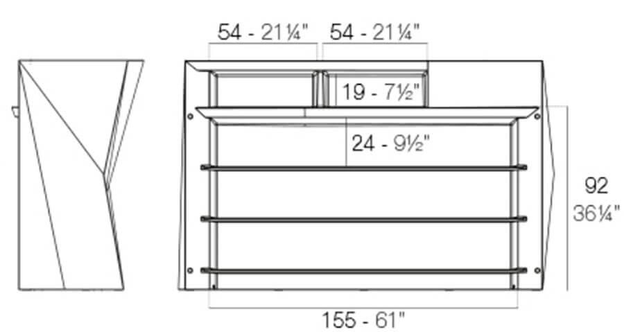 Medidas barra central