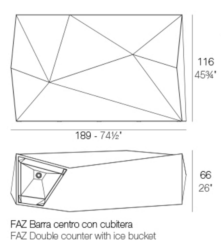 Medidas barra cubitera