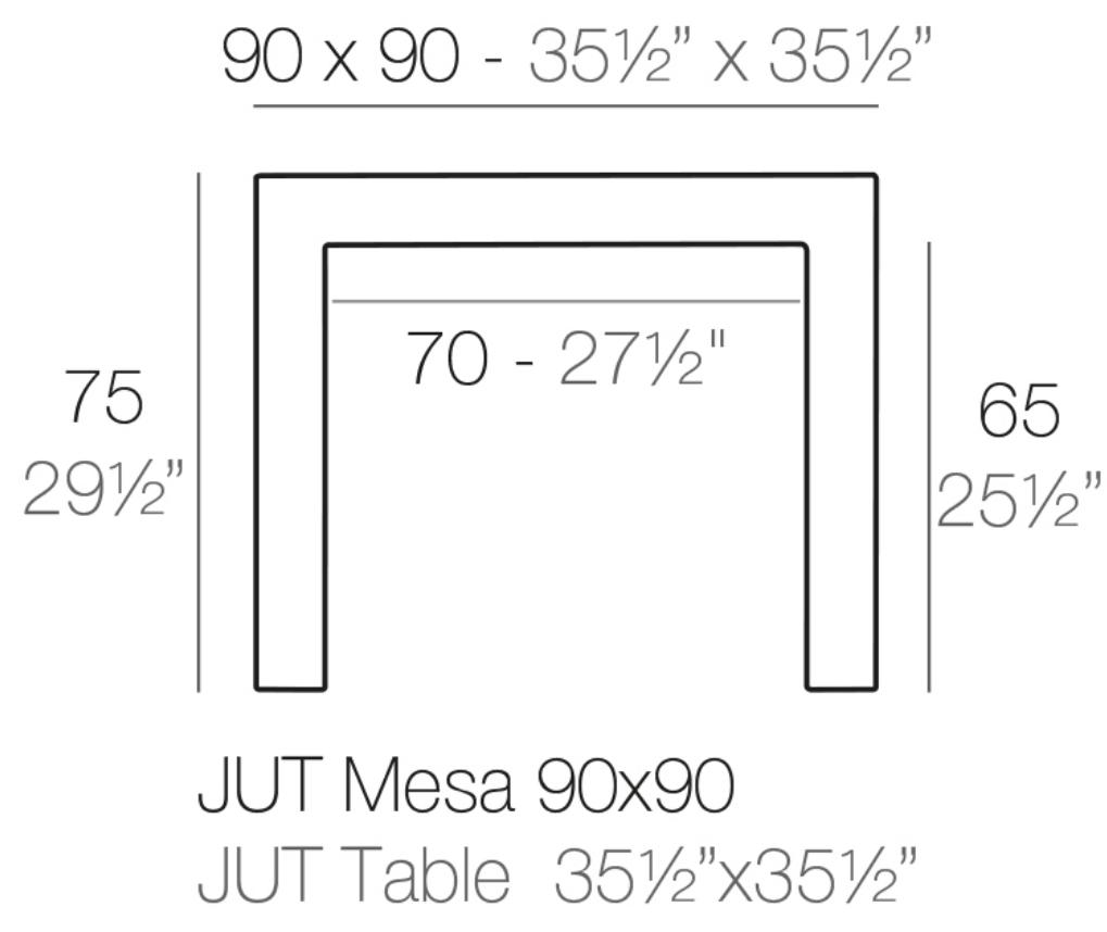 Medidas Mesa 90 Jus