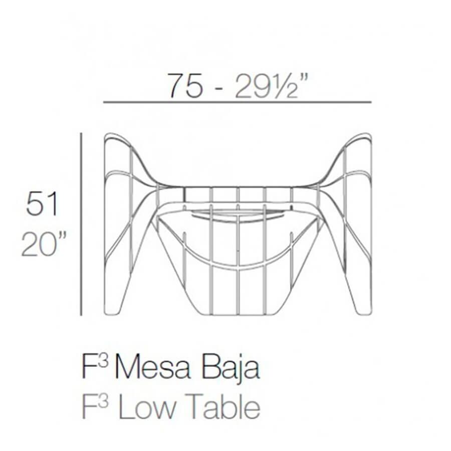 Medidas mesa baja F3