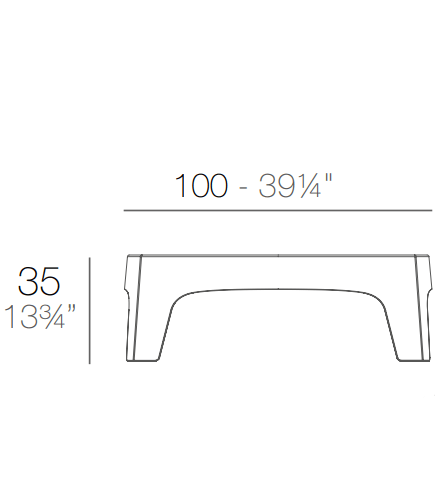 Medidas mesa baja Solid