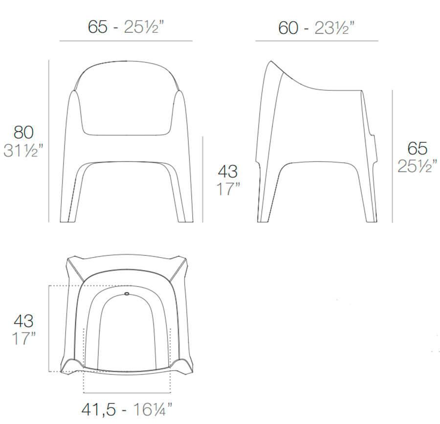Medidas sillón Solid