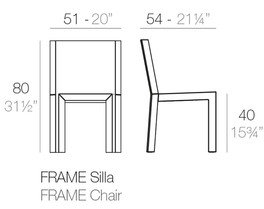 Medidas silla Frame