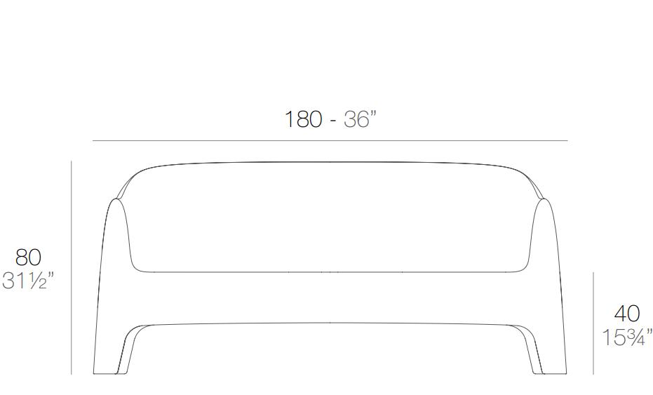 Medidas sofá Solid