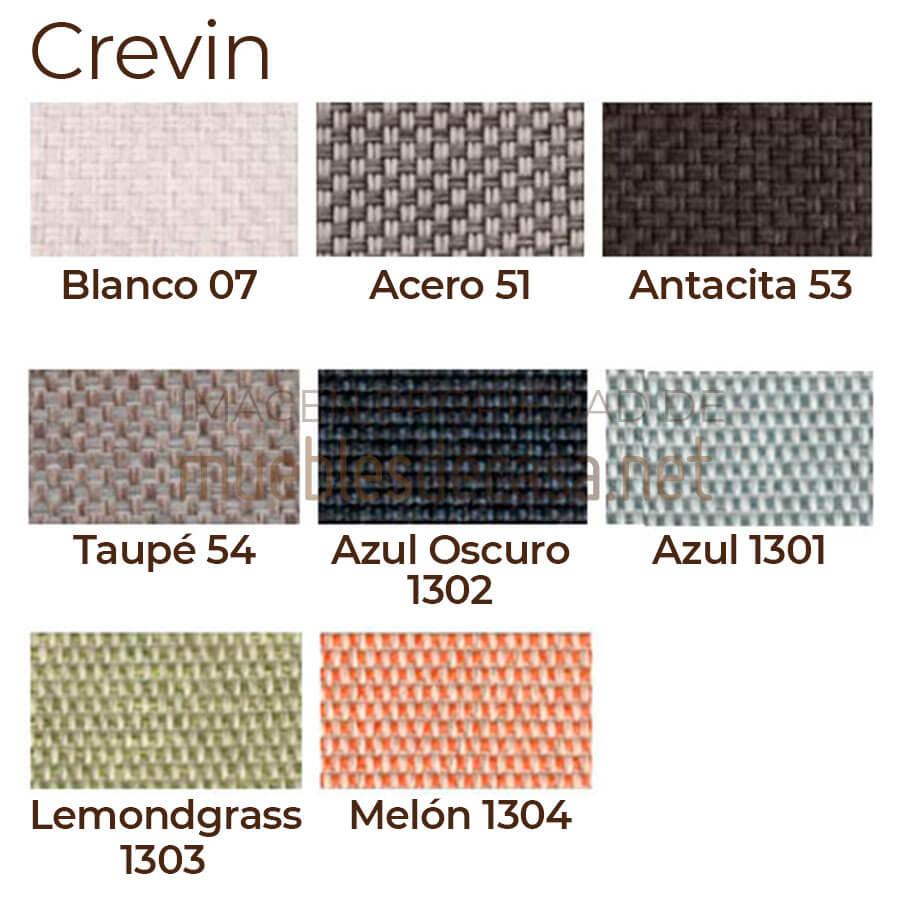Paleta colores acolchado Crevin