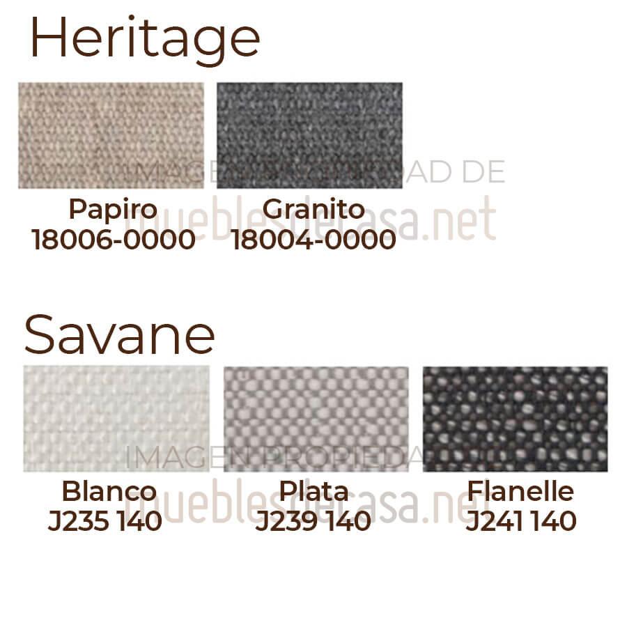 Paleta colores acolchado Heritage y Savane