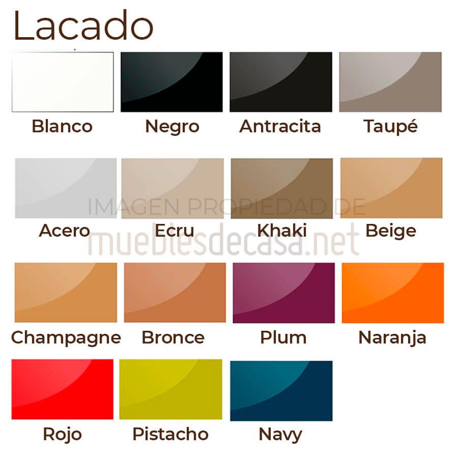 Paleta colores lacados Vandom