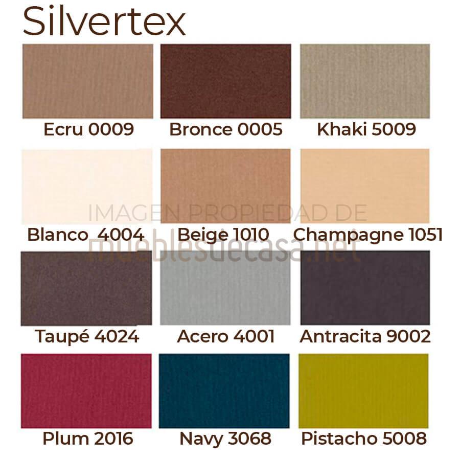 Paleta colores acolchado Silvertex
