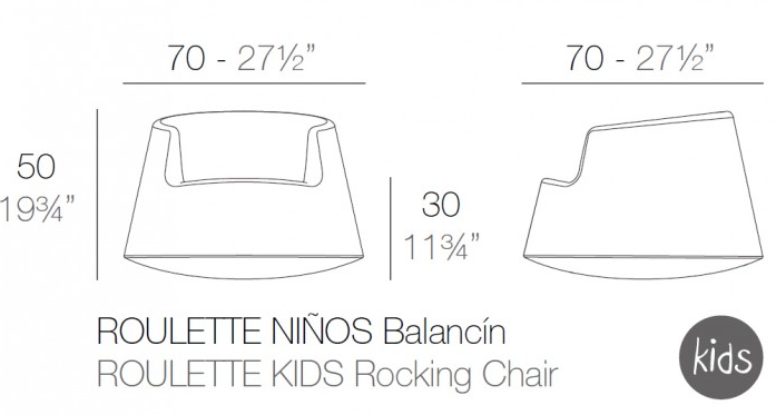 Medidas silla Roullete niño