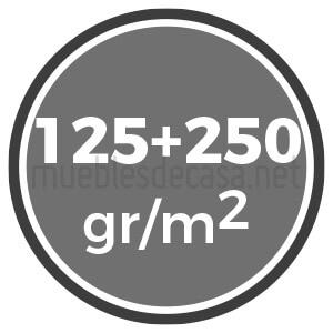 125 y 250 gramos
