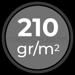 210 gramos