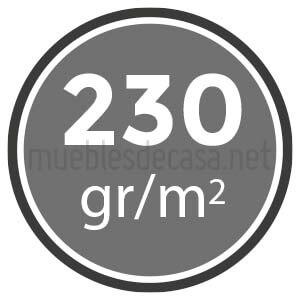 230 gramos
