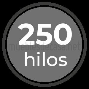 250 hilos