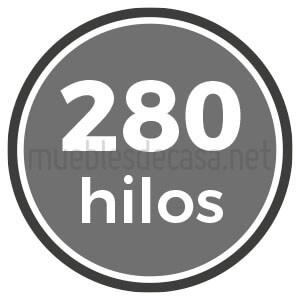 280 hilos