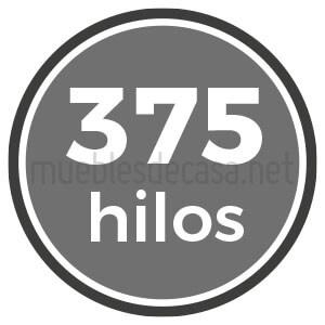 375 hilos