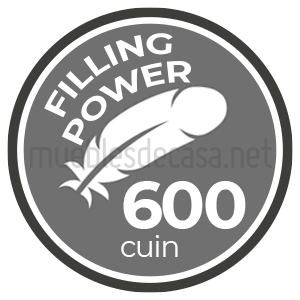 fill power 600 cuin