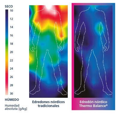 cambios de temperatura en nórdicos termorreguladores