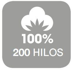 200 hilos en algodon
