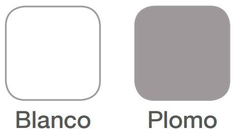 colores blanco y plomo