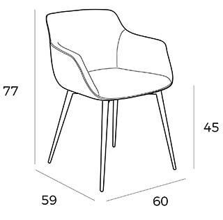 medidas silla a116 angel cerda