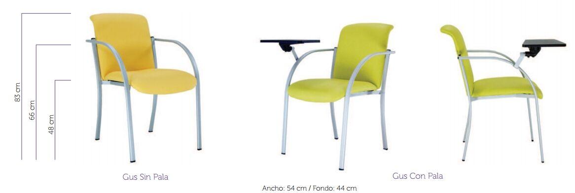 medidas silla de oficina gus de vincolo