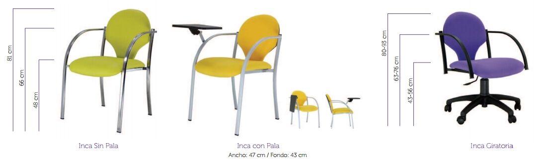 silla de oficina inca de vincolo