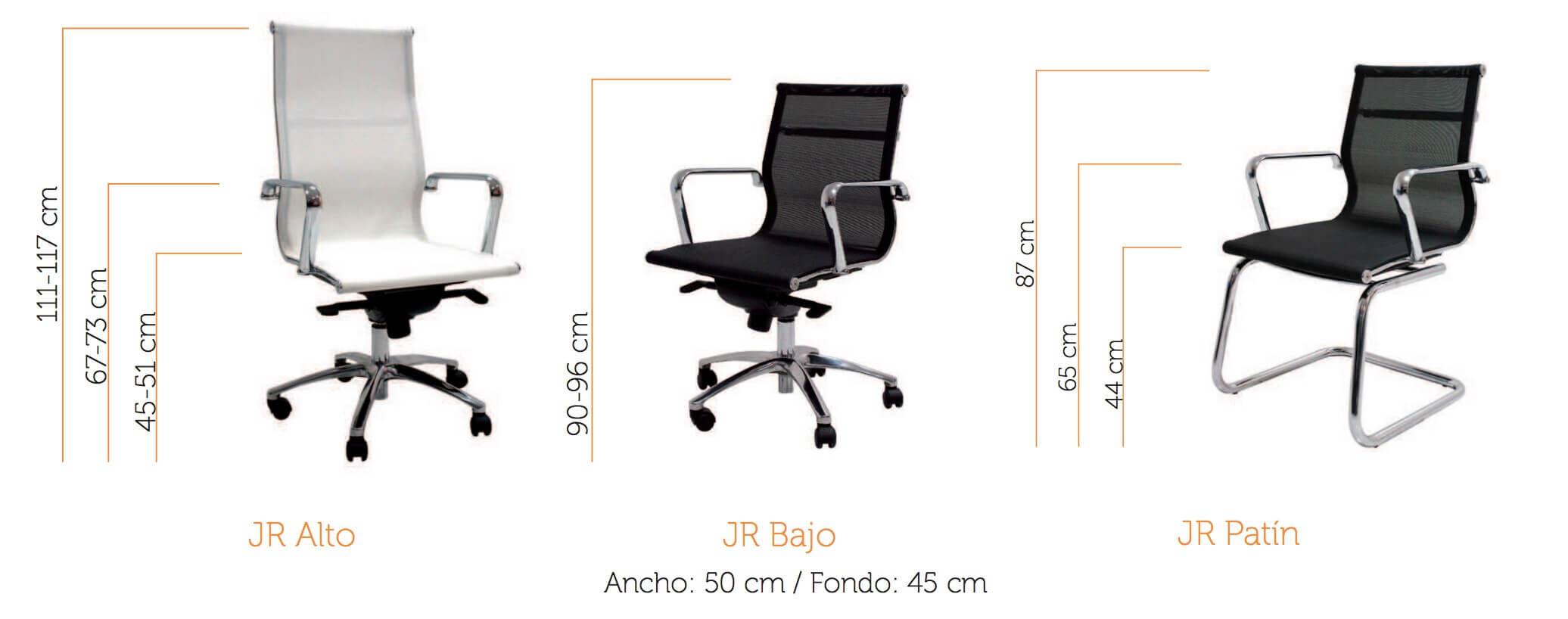silla de oficina malla vincolo