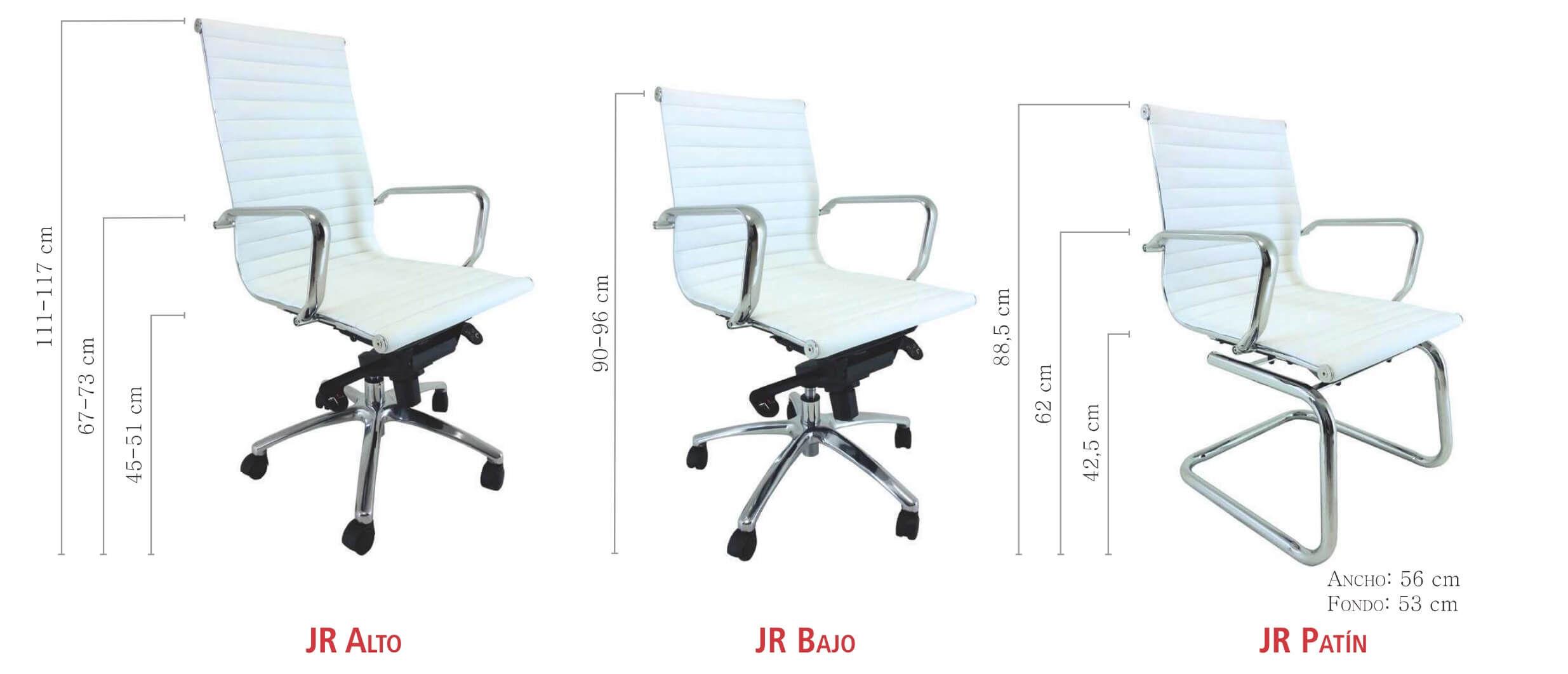 silla de oficina en piel ecologica de vincolo