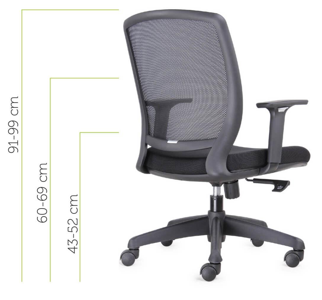 silla de oficina luna vincolo