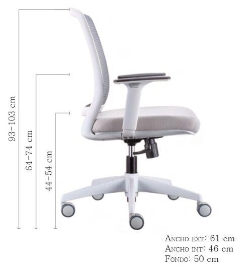 silla luna grey vincolo