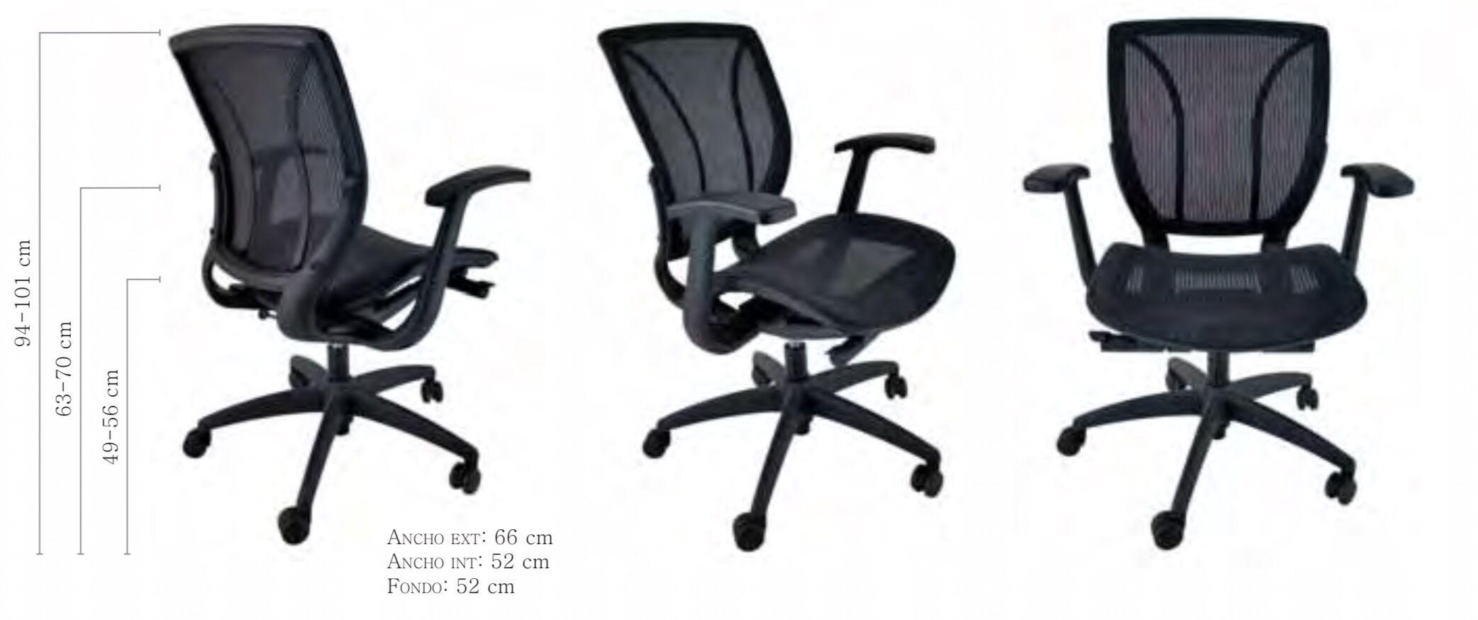 medidas silla de oficina orion de vincolo