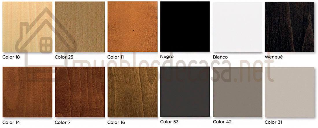 colores estructura de madera butacas tajoma