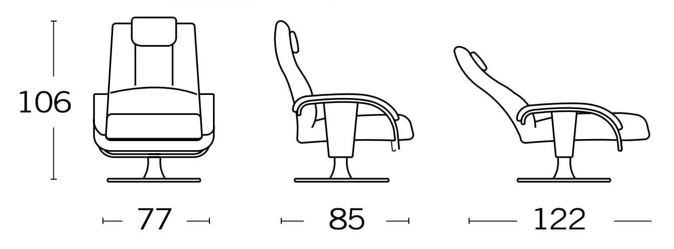 medidas sillones relax argos