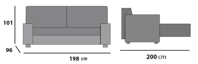 sofa nueria mopal medidas