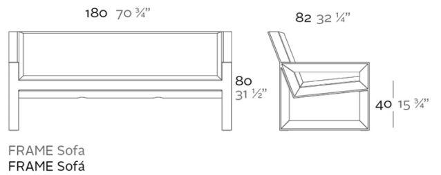 medidas sofá frame