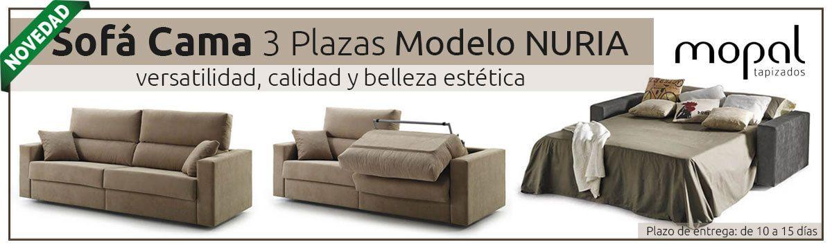 ¡Novedad! Sofá cama 3 plazas Modelo Nuria