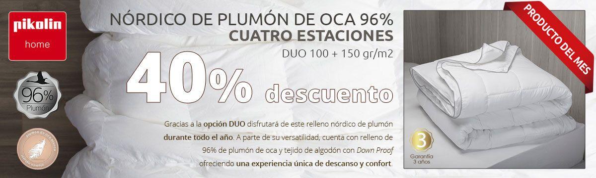 NÓRDICO DE PLUMÓN DE OCA 96%  CUATRO ESTACIONES DUO 100 + 150 gr/m2