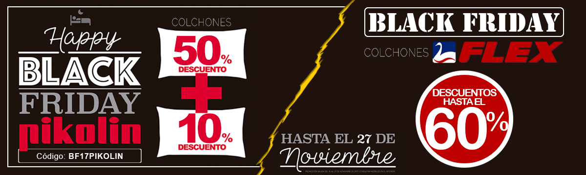 Black Friday 2017 en MueblesDeCasa.Net ¡Hasta el 27 de noviembre!