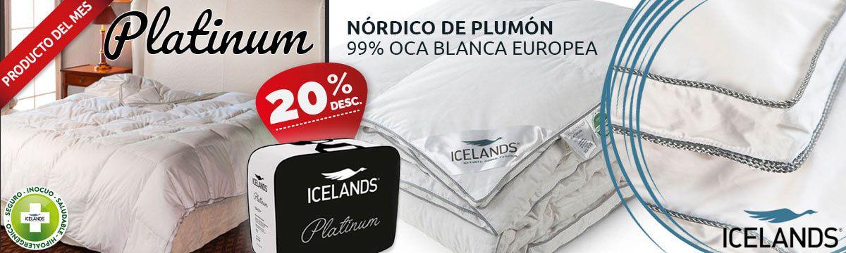 NÓRDICO DE PLUMÓN DE OCA 99%  PLATINUM Icelands